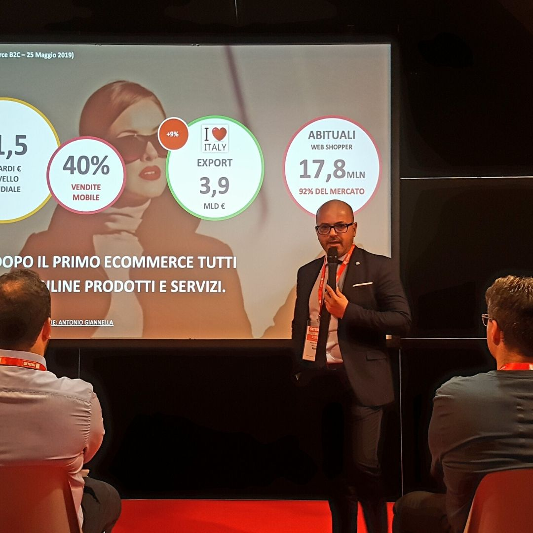 consulente ecommerce antonio giannella digital marketing manager - consulente seo - smau 2019