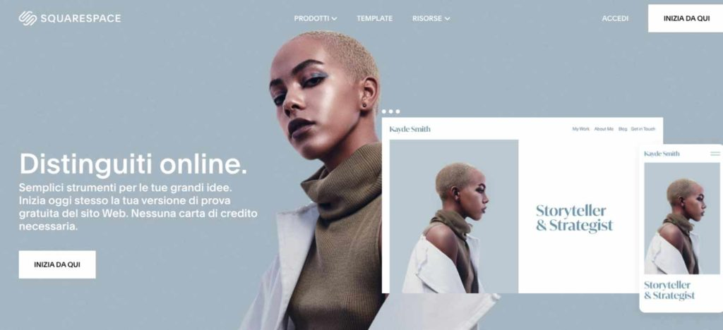 creare siti web squarespace